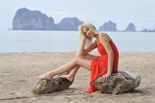 Elischeba am Strand von Si Kao