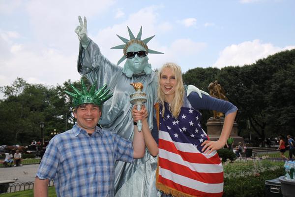 Elischeba und Pierre im Central Park