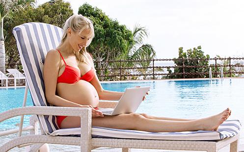 Elischeba im sechsten Monat schwanger