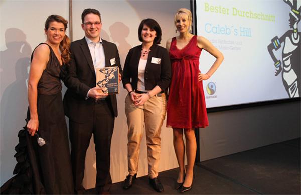 Faitrade Award Elischeba Wilde Anke Engelke calebs hill