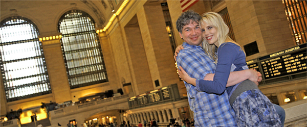 Elischeba mit Pierre in New York