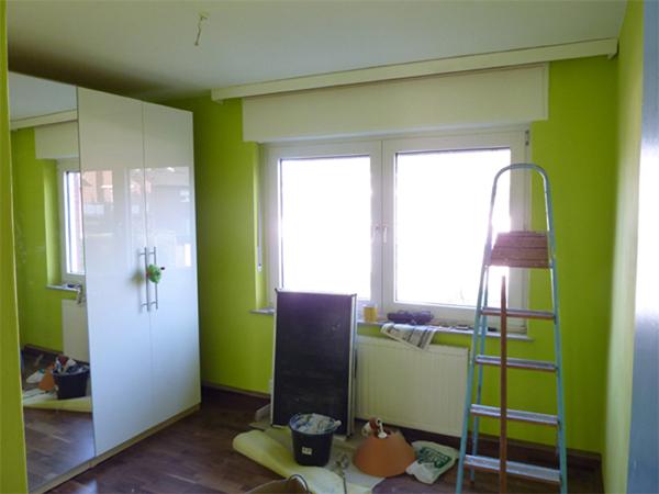 Leons Zimmer im April 2012