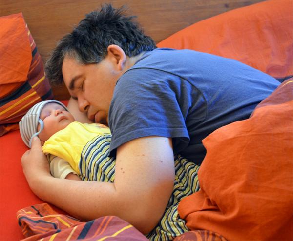 Leon mit Papa