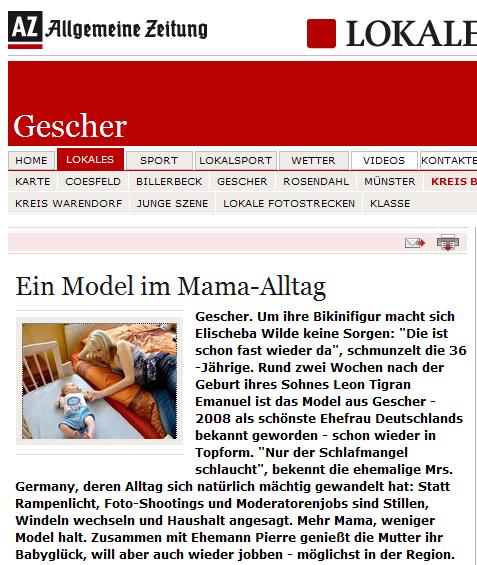 Elischeba in der AZ Omline Ausgabe