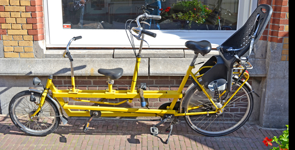tandem fahrrad kind vorne