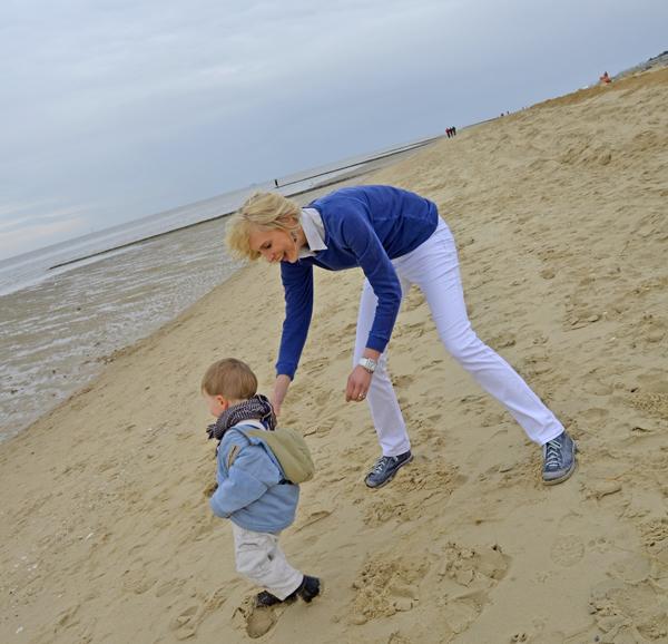 laufen am Strand von Cuxhaven
