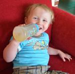 Leon zwei Jahre alt
