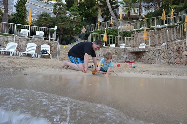 Papa und Sohn Urlaub
