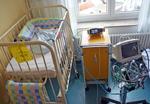 Emily im Krankenhaus zur Kontrolle