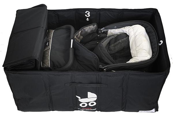 Airshells_Stroller_Pram_Safety_Bag_Open