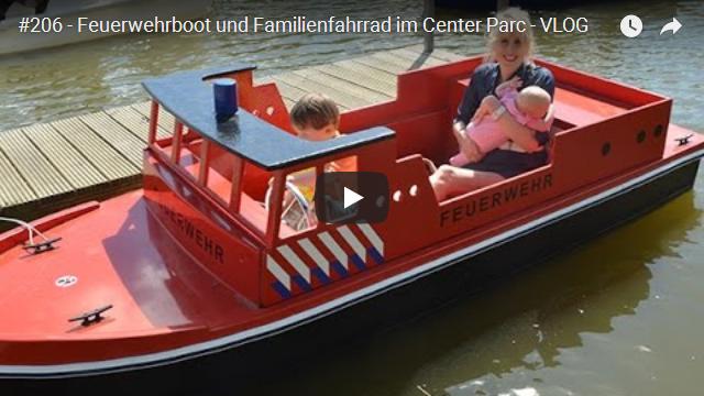 ElischebaTV_206_640x360 Feuerwehrboot und Familienfahrrad im Center Parc Bispinger Heide