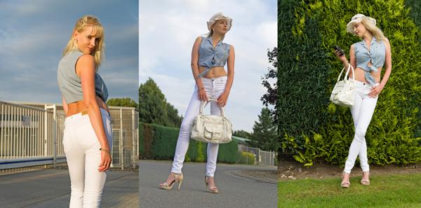 Elischeba sexy in weißen Jeans von SELFNATION