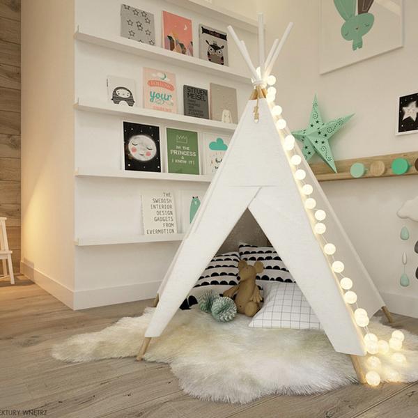 Skandinavische Kinderzimmer von ELEMENTY – Pracownia Architektury Wnętrz