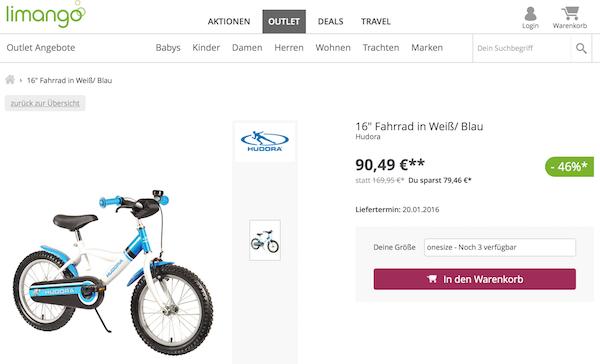 blaues fahrrad kaufen
