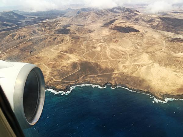 fuerteventura vom flugzeug aus 2016