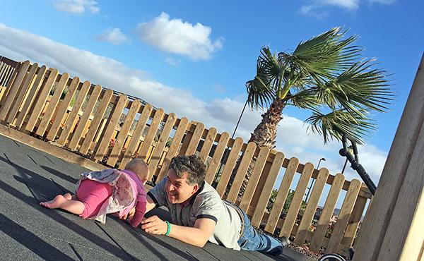 Papa und Emily auf Fuerteventura