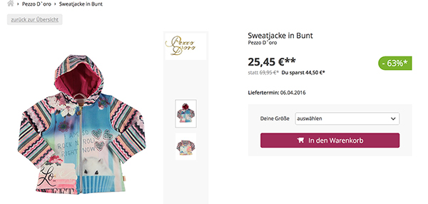 limango screenshot jacke