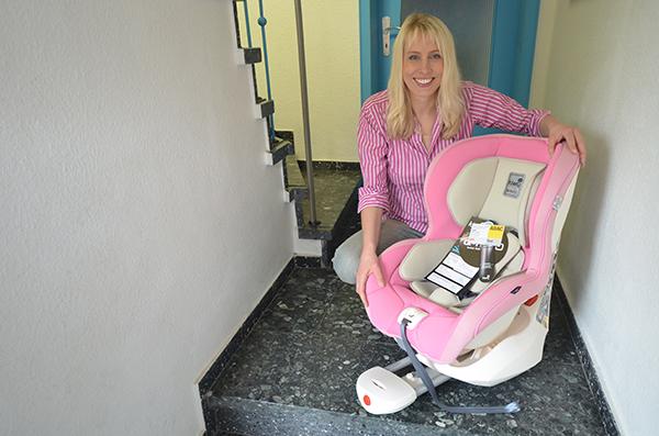 Kiwy Autositz in rosa