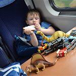 Zug fahren mit Kids