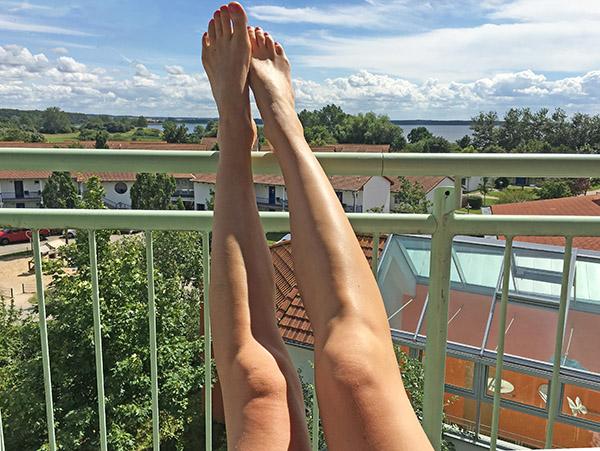 legs am balkon
