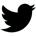 Twitter Icon schwarz