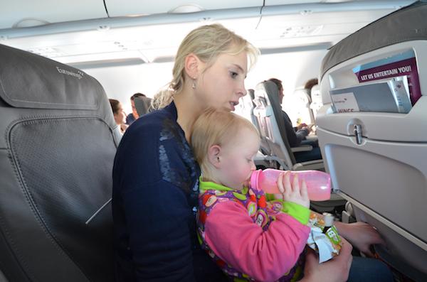 Hinflug mit Baby