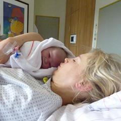 Sekunden nach der Entbindung