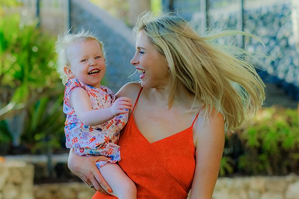 Mami und Baby