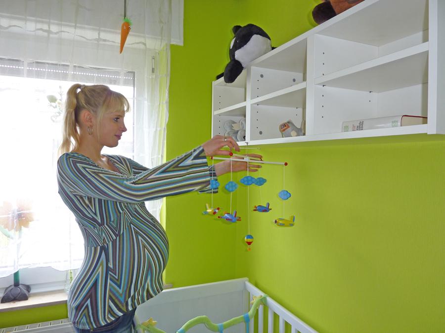 Elischebas Babybauch kurz vor der Geburt