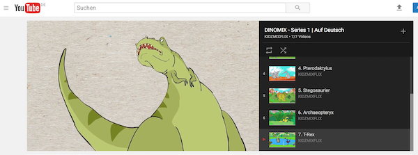 Dinosaurier Kinderfilme auf YouTube