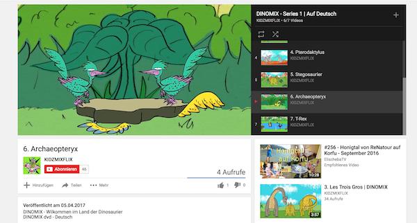 Kinderfilme auf YouTube