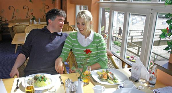 Elischeba und Pierre im Restaurant Seebrücke