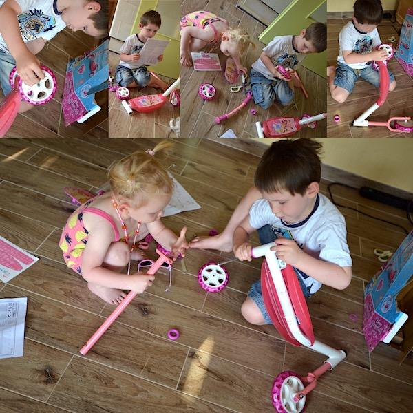 Spielzeug aufbauen