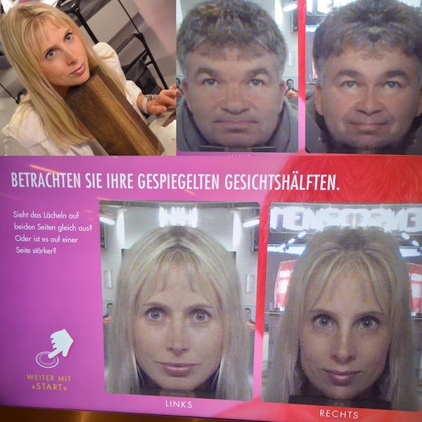 gespiegelte Gesichtshaelften
