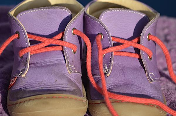 Reinigung der Schuhe