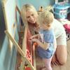 Elischeba und Emily an der Tafel