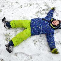 Leon im Schnee