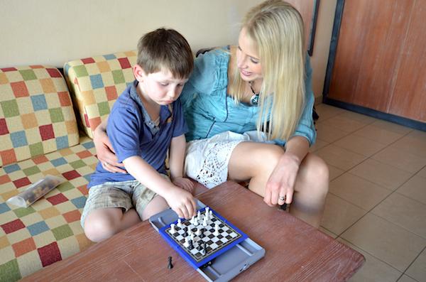 Schach mit Kind