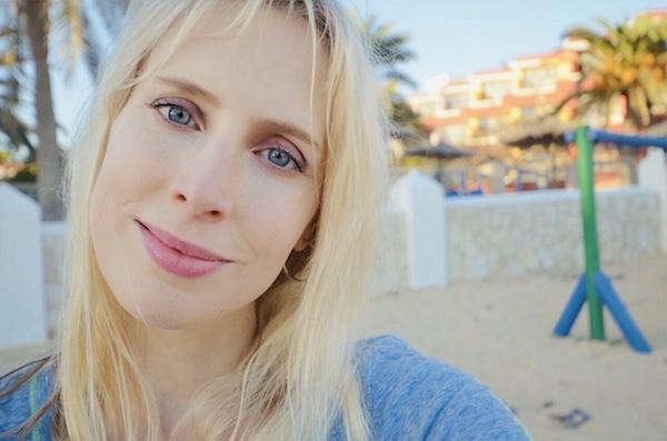 Selfie Frau blond
