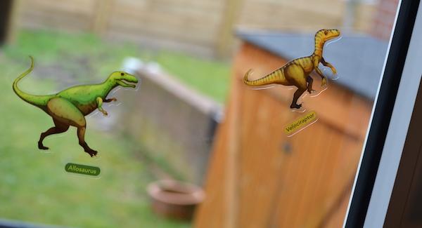 Dinosaurier Aufkleber für das Fenster