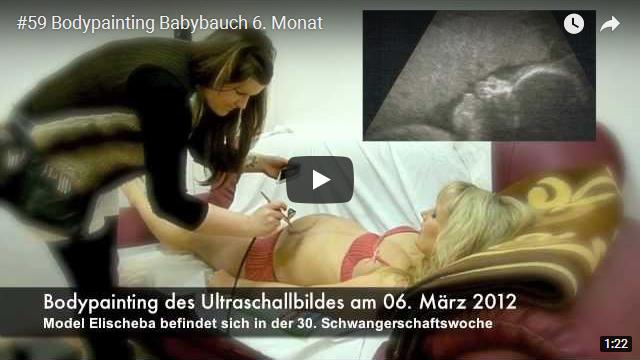 ElischebaTV_059_640x360 Bodypainting Ultraschallbild Babybauch