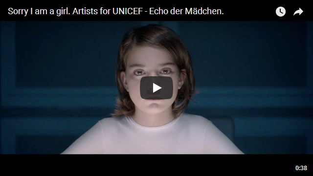 Artists for UNICEF - Sorry I am a girl