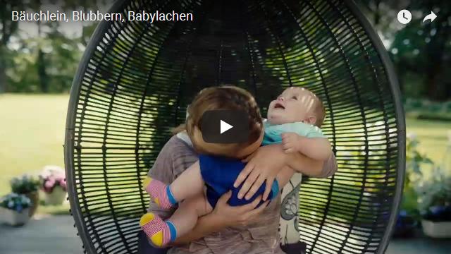 Bäuchlein Blubbern Babylachen