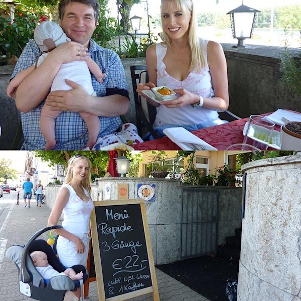Restaurantbesuch mit Baby