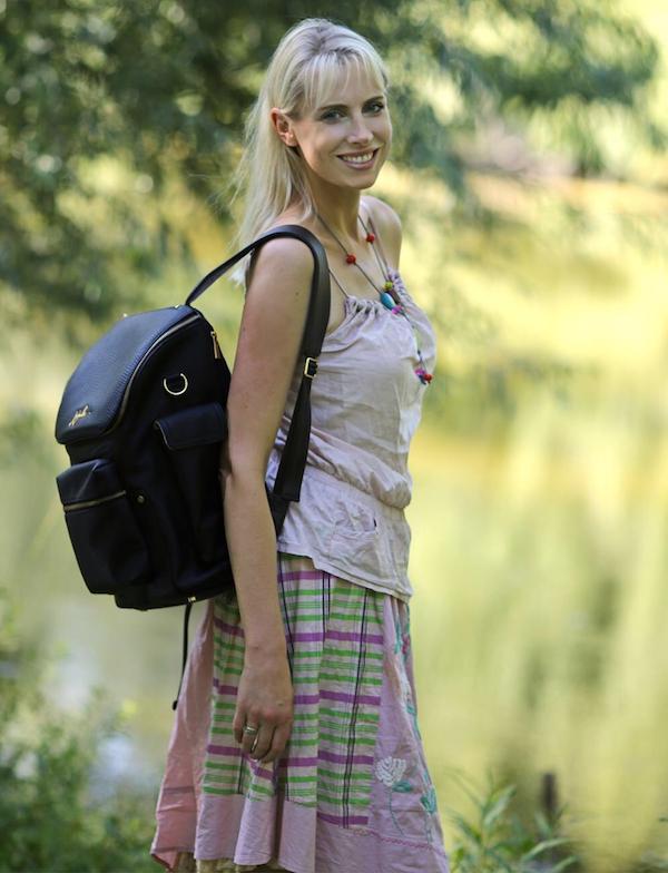 Wickeltasche als Rucksack