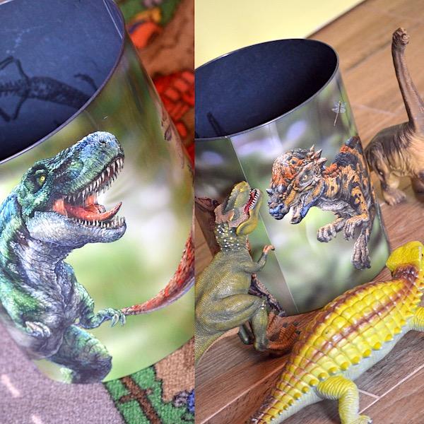 Dinosaurier Mülleimer