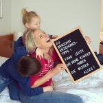Alltag mit Kindern Letterboard