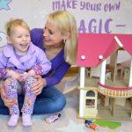 rosa Puppenhaus für Mädchen