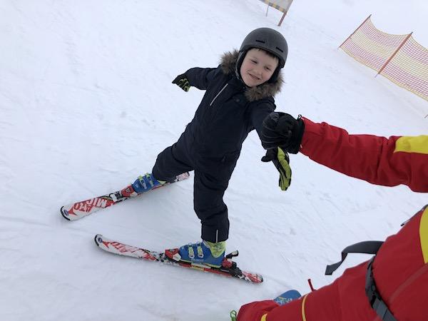 Unterricht im Skifahren