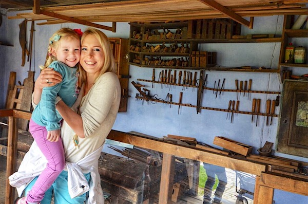Mühlenhof mit Kindern
